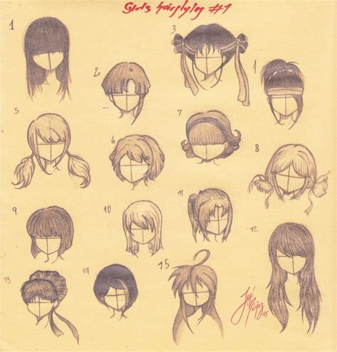 girl hairstyles manga manga girls hairstyles all by josen16 on deviantart