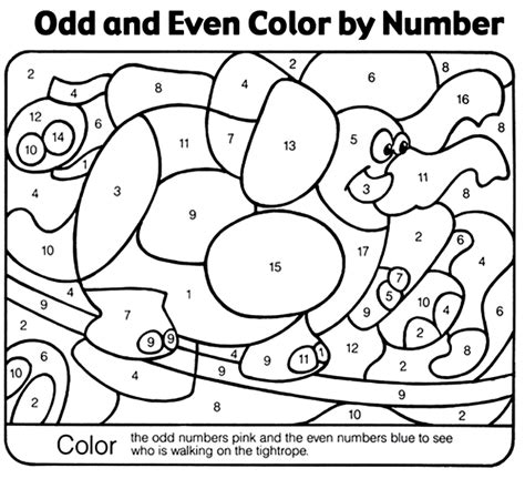 crayola action coloring pages circus color by number crayola co uk