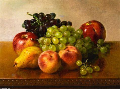 imagenes de uvas en oleo bodeg 243 n con manzanas uvas melocotones as 237 como pera 243 leo