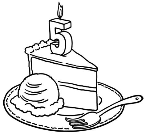 coloring pages happy birthday cake candles birthday candle netart