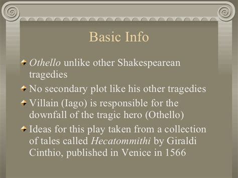 themes of the othello othello background information background ideas