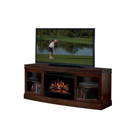 tv consoles with electric fireplace dimplex wickford electric fireplace media console walnut