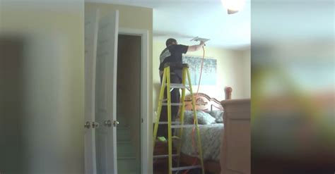 hidden cameras in bedrooms hidden camera catches the a c repairman doing this in her