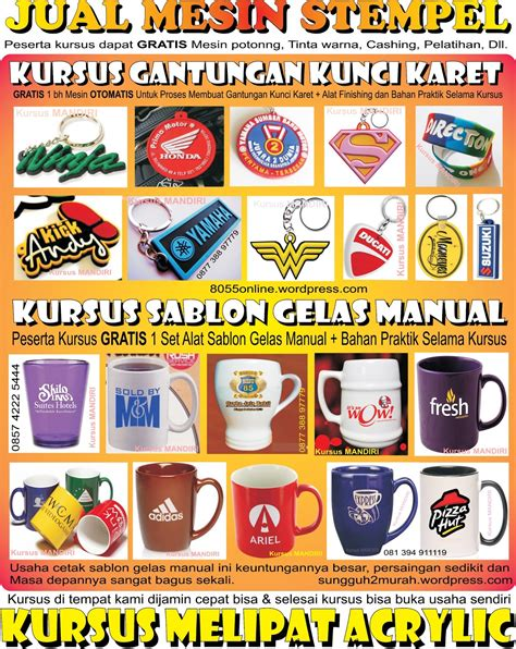 percetakan souvenir accessories gift hiasan website