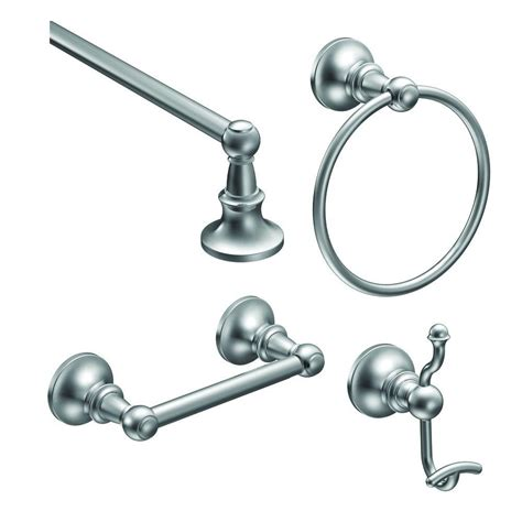 moen vale 4 piece bath hardware set with 24 in towel bar