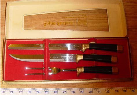 two vintage kitchen carving knives regent sheffield ic vintage england regent sheffield handle carving knives