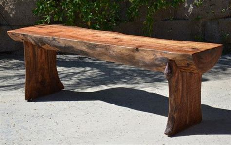 log benches outdoor rustic log bench patio and garden pinterest