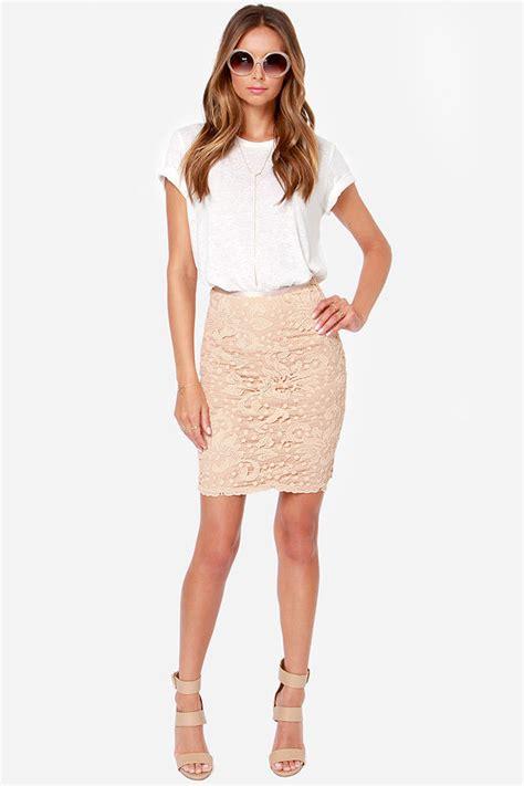 beige skirt lace skirt pencil skirt 34 00