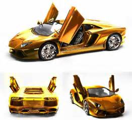 Lamborghini Real Price Golden Version Of Lamborghini Aventador Model Car Costs 12