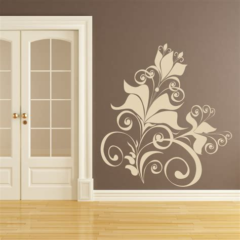 Flower Design On Wall | floral design wall art sticker wall decal transfers the