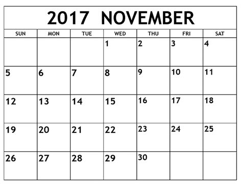 printable calendar november 2017 with notes printable november 2017 calendar template pata sauti