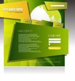creative templates free abstract creative green based web template vector