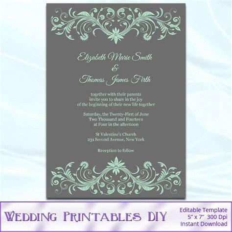 42 Best Wedding Invitations Images On Pinterest Wedding Invitation Cards Wedding Cards And Mint Green Wedding Invitation Template