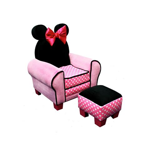 delta children disney minnie mouse chair and ottoman