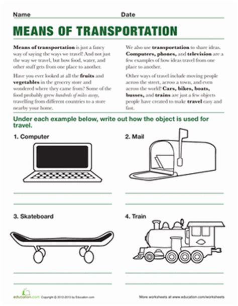 Third Grade Social Studies Worksheets by Means Of Transportation Worksheet Education