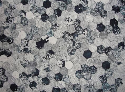 pattern black grey gray and black hive printed textile 183 free stock photo