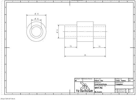 Schnittdarstellungen In Technischen Zeichnungen by 7 1 1 5 Einf 252 Manueller Bema 223 Ungen