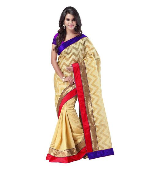 Azara Diskon azara lifestyle beige silk saree buy azara lifestyle