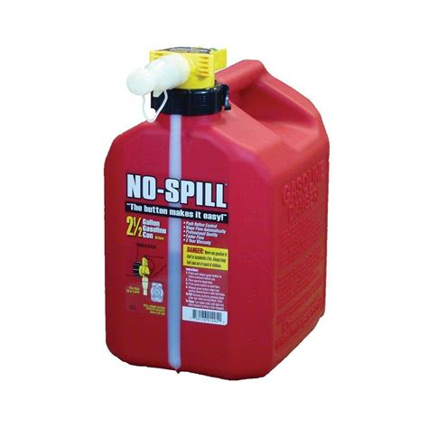 no spill no spill 2 5 gal poly gas can carb and epa
