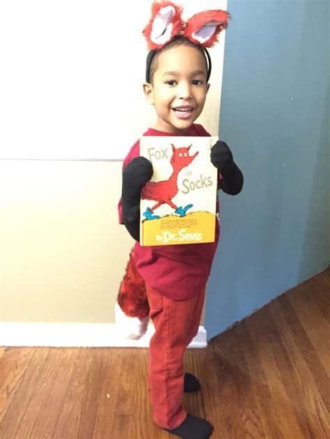 diy fox in socks costume storybook or nursery rhyme character costume fox in socks