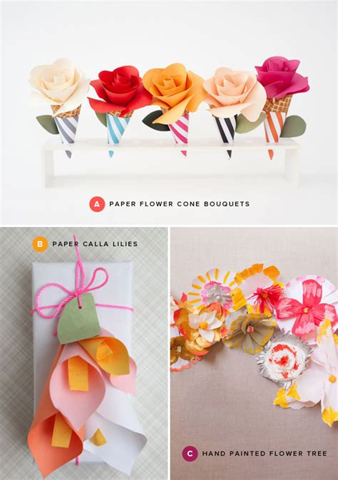 Paper Craft Of Flowers - diy paper flower corsages oh happy day invitations