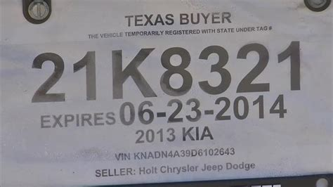 printable dealer tags texas temporary license plate templates car interior design