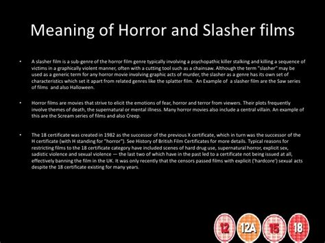 horror film questionnaire media analysis of films horror and slasher research and