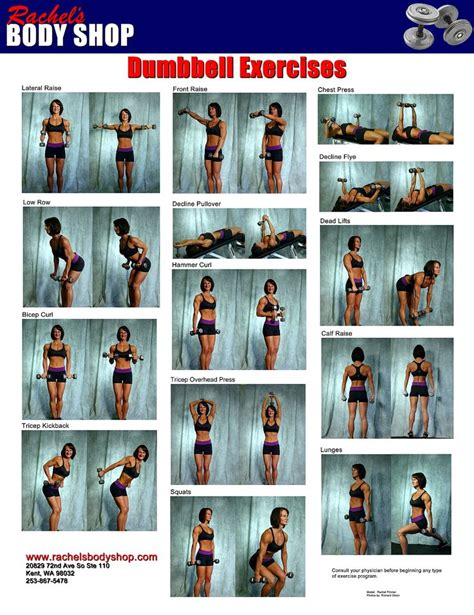 s shop dumbbell exercise chart human