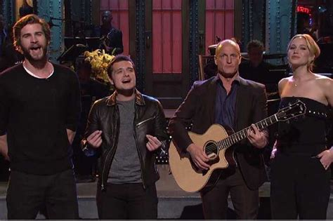 woody harrelson on snl woody harrelson and hunger games cast remix taylor swift s