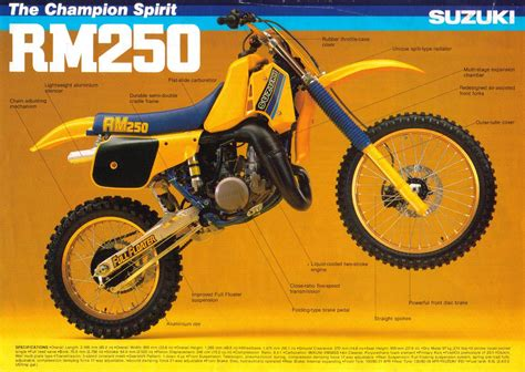 1985 Suzuki Rm 250 1984 Suzuki Rm250