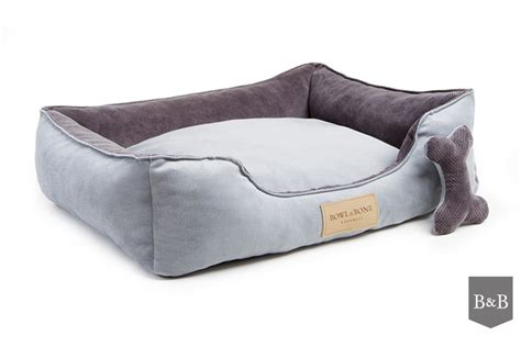 bed and bone bowl and bone classic dog bed grey luxury dog beds