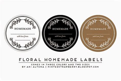 free printable floral homemade mason jar labels minted