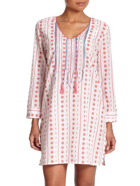 roberta roller rabbit roberta roller rabbit loki printed tunic in pink lyst