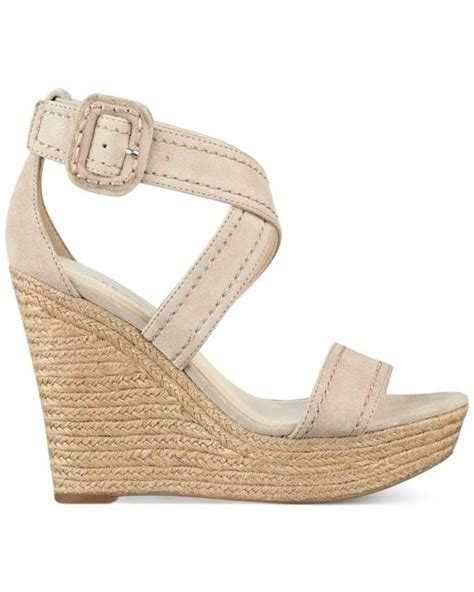 marc fisher haely platform wedge sandals in pink light