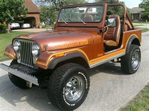 brown jeep cj7 buy used 1982 jeep cj7 laredo copper metallic nutmeg clean