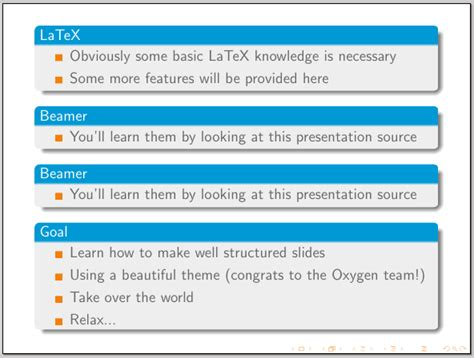 beamer theme oxygen problem with a beamer theme tex latex stack exchange