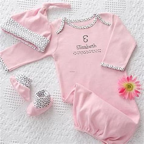 personalized baby clothes gift set newborn girl visual
