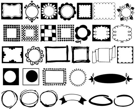 free doodle frame font bundle of 6 whimsical doodles fonts only 27 mightydeals