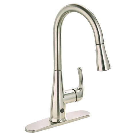 polished nickel kitchen faucet pull down kitchen faucet quot nexo quot brushed nickel rona