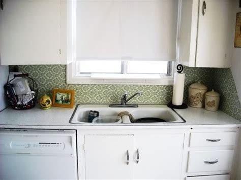temporary kitchen backsplash backsplash idea for rental kitchens removable fabric