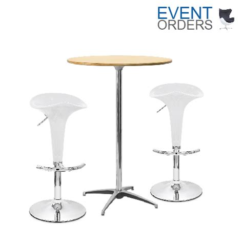 Pod Stool by Beech High Pod Table 2x Coco Stools 171 Event Orders