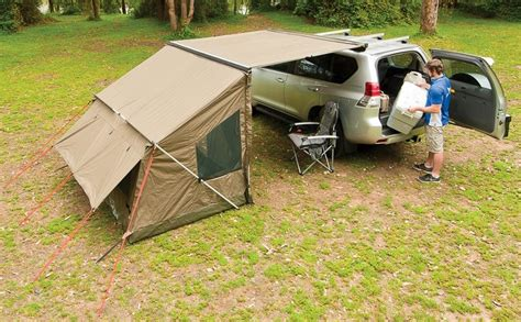 rhino awnings compare extension piece vs tagalong tent for etrailer com