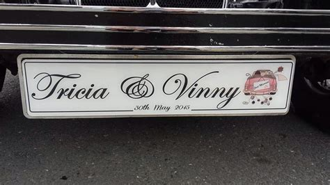 Wedding Car Number Plates by His Car Wedding Number Plate