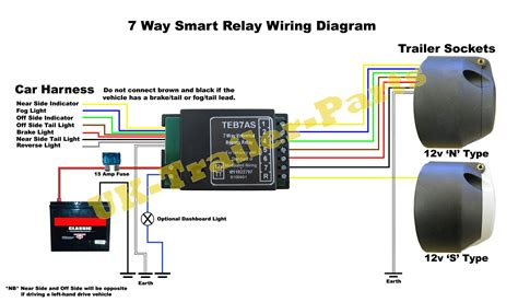 universal bypass relay wiring diagram uk trailer parts