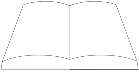 printable open book template best photos of template of open book open book template