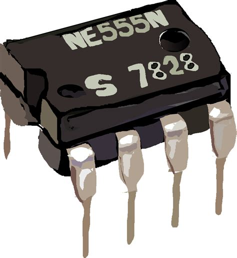 integrated circuit chip clipart clipart 555 timer ic