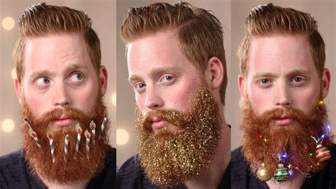 decorate beard for christmas 3 ways to decorate your beard this holiday season youtube