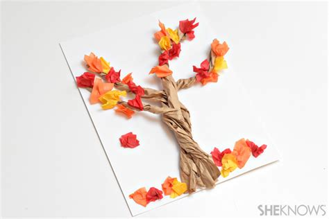 Paper Bag Tree Craft - 4 paper bag crafts for fall