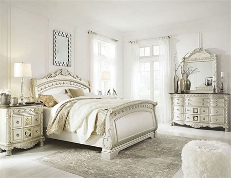 pearl bedroom furniture cassimore pearl silver sleigh bedroom set bedroom sets