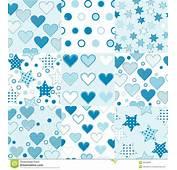 Baby Boy Seamless Background Patterns Stock Illustration